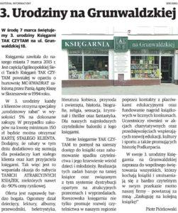 3 urodziny taniej księgarni w Rzeszowie